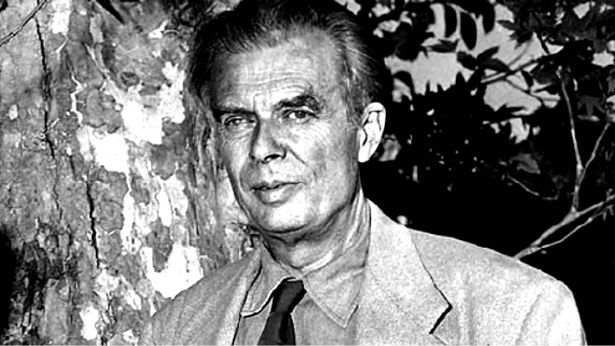 A portrait of writer Aldous Huxley
