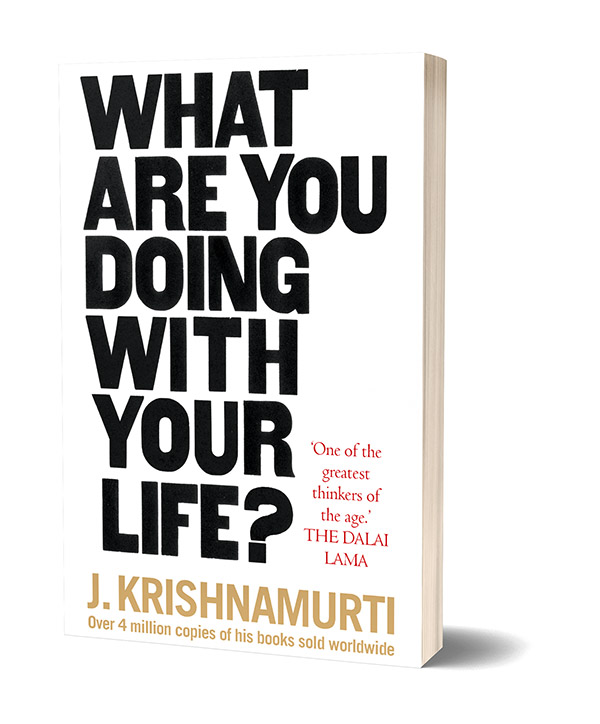 Cover of Krishnamurti's book What are you doing with your life?