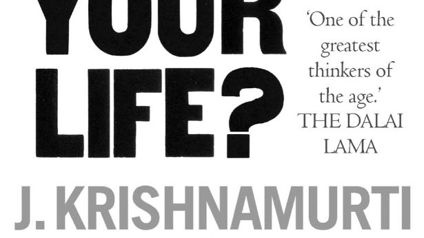 Book cover of What are you Doing with your Life? by J. Krishnamurti