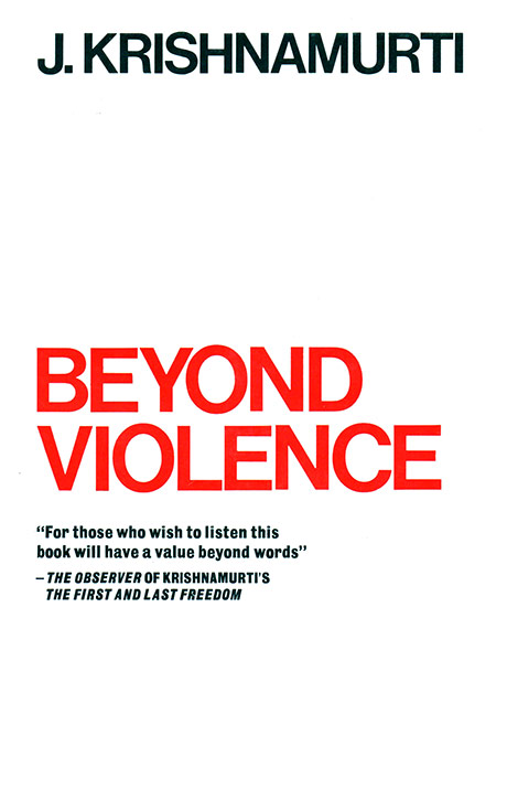 Front cover of J. Krishnamurti's book Beyond violence