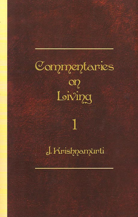 Front cover of J. Krishnamurti's book Commentaries on Living