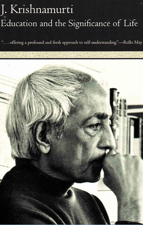 Front cover of J. Krishnamurti's book Education and the significance of life