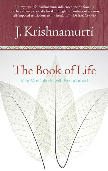 Front cover of J. Krishnamurti's book The Book of Life