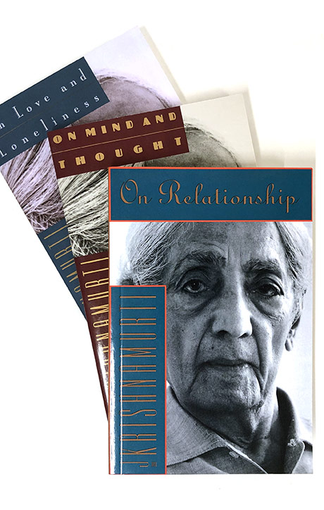 Front covers of J. Krishnamurti's theme books
