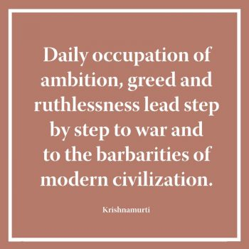 Daily occupation of ambition