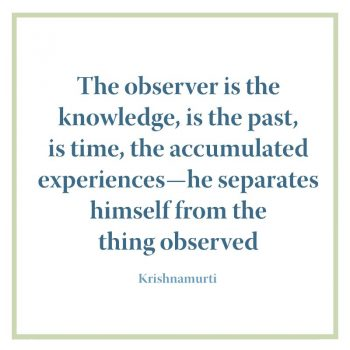 The observer is the knowledge