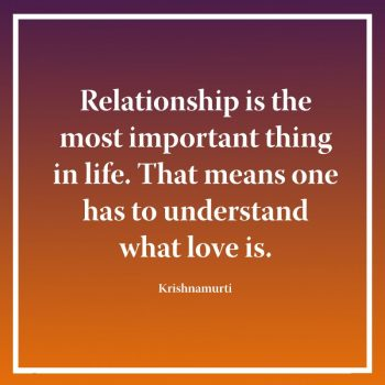 Relationship is the most important thing