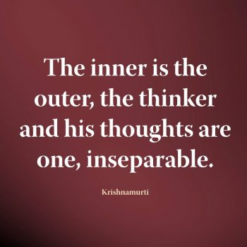 The inner is the outer