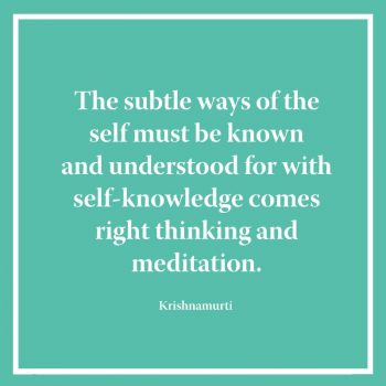 The subtle ways of the self