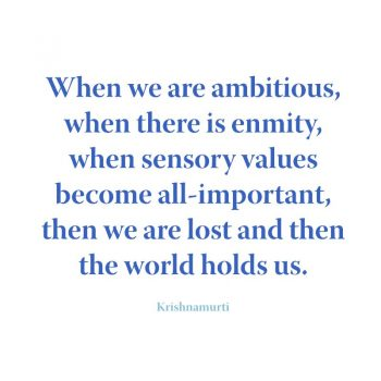When we are ambitious