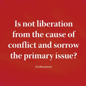 Is not liberation from the cause