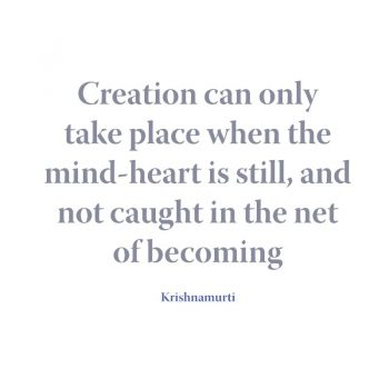 Creation can only take place