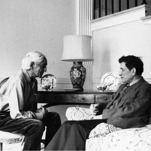 Photograph of David Bohm and J. Krishnamurti