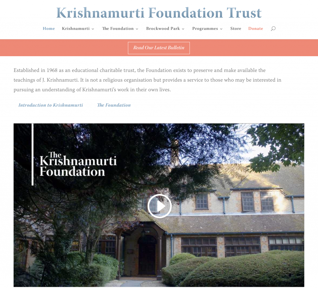 The transformation of consciousness 2: The Process – Krishnamurti