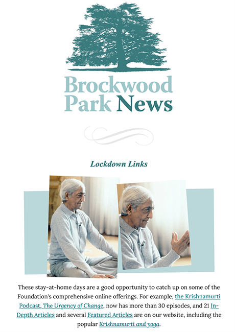 Brockwood Park News Cover March 2020