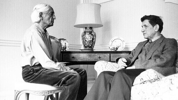 Krishnamurti and David Bohm in conversation